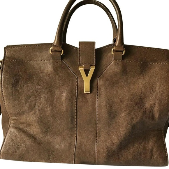 Yves Saint Laurent Handbags - Yves Saint Laurent Paris Cabas Brown Smooth Leathe